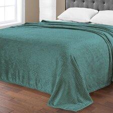 Plush Satin Pin Striped Blanket