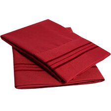 Ultra-Soft Microfiber Embroidered Pillowcase (Set of 2)
