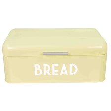 Retro Design Powder Coated Steel Bread Box with Lid