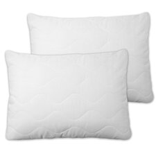 Extra Plush Quilted Pillow Protector with Zipper (Set of 2)
