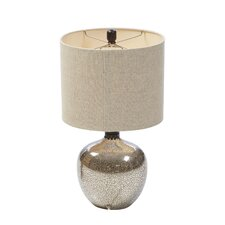 """Photina Glass 25.5"""" H Table Lamp with Oval Shade"""
