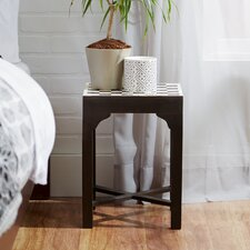 Bone Inlay Chess End Table