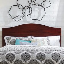 Apollo Mahogany Camelback Wood Headboard