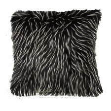 Artis Faux Fur Two Tone Feathered Throw Pillow