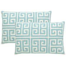 Modern Greek Key Small Pillow Set (Set of 2)