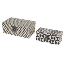 2 Piece Trinket Box Set