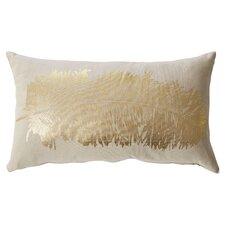 Metallic Feather Pillow