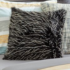 Faux Fur Two Tone Feather Filled Throw Pillow