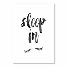 Sleep In Textual Wall Art