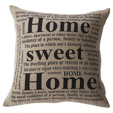 Antipatros Home Sweet Home Feathered Throw Pillow