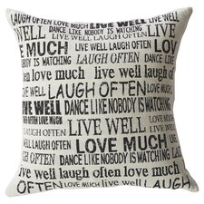 Aphrodisia Laugh Often Feathered Throw Pillow