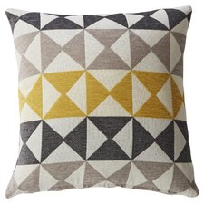 Yellow Triangle Print Throw Pillow