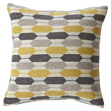 Yellow Geoprint Throw Pillow