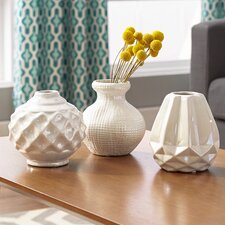 Thucydides 3 Piece Ceramic Vase Set