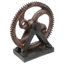 Solorio Industrial Style Rusted Gear Décor Sculpture
