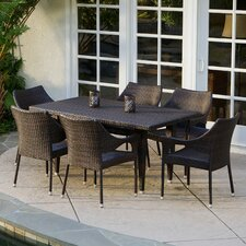 Nevius Outdoor 7 Piece Dining Set