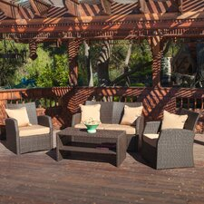 Bakke Outdoor 4 Piece Seating Group with Cushions