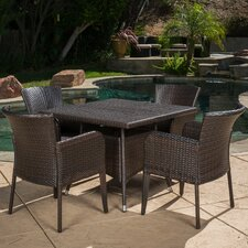 Cyrillus 5 Piece Wicker Dining Set