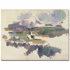 'Montagne Sainte Victorie, 1904' by Paul Cezanne Painting Print on Canvas
