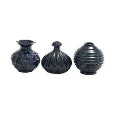 3 Piece Ceramic Vase Set