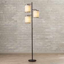 "Baysinger 74"" 3 Light Floor Lamp"