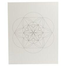 Chalk Sketch Circles Graphic Art on Canvas