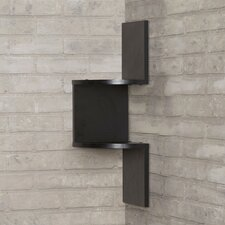 Giedi Corner Wall Shelf in Black