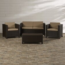 Kappa 4 Piece Seating Group with Cushions