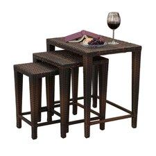 Amelius 3 Piece Wicker Nesting Table Set