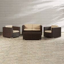 Ostro 4 Piece Seating Group with Cushions
