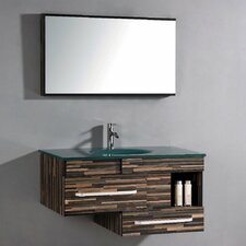 "Pinova 40"" Single Bathroom Vanity Set with Mirror"