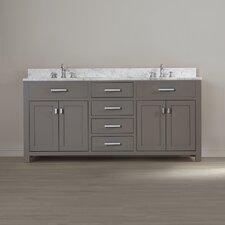 "Celeste 72"" Double Sink Bathroom Vanity Set"