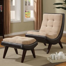 Mountain Home Lounge Chair and Ottoman