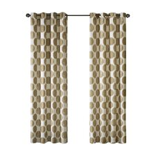 Leena Printed Dot Single Curtain Panel