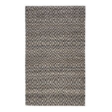 Pyrrhos Diamond Hand-Woven Black Area Rug