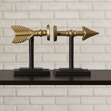 Modern Arrow Book End (Set of 2)