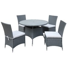 Lachesis 5 Piece Dining Set with Cushion