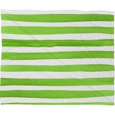 Thekla Spruce Stripes Plush Fleece Throw Blanket