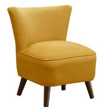 Cyril Linen Mid Century Slipper Chair