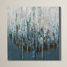 Splash Painting Print on Wrapped Canvas