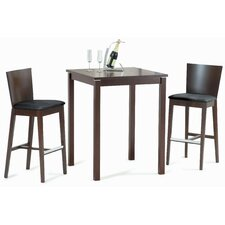 Thais Square Bar Table Set in Walnut