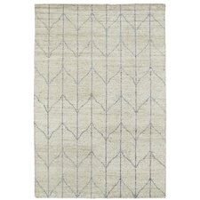 Aracely Handmade Sand / Grey Area Rug
