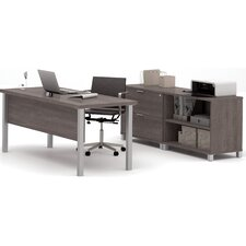 Ariana 3-Piece U-Shape Desk Office Suite