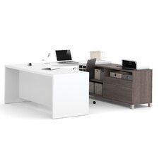 Ariana 2-Piece U-Shape Desk Office Suite