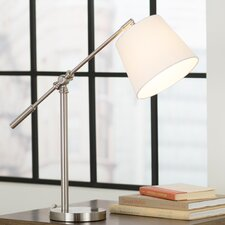 "20"" H Adjustable Arm Table Lamp with Drum Shade"
