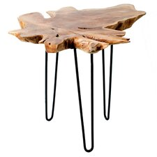 Abston Wood Top End Table