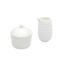 Asbury 2 Piece Covered Sugar Bowl & Creamer Set