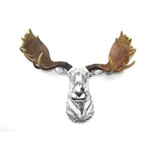Moose Head Faux Taxidermy Wall Décor
