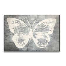 """""""Traveling Blue Butterfly"""" Graphic Art Plaque"""