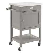 Aubuchon Kitchen Cart with Stainless Steel Top